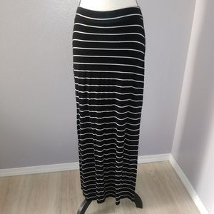 Old navy striped maxi skirt with slits